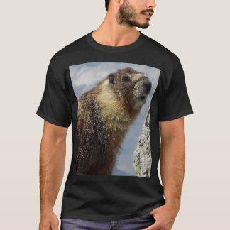 Camiseta Marmota inchada amarelo em Yosemite