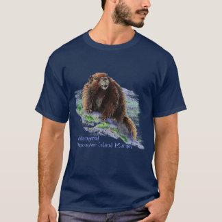 Camiseta Marmota psta em perigo da ilha de Vancôver