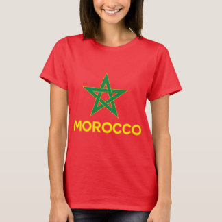 Camiseta Marrocos - bandeira marroquina