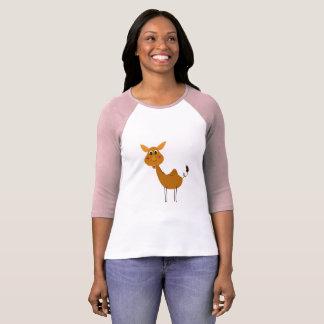 Camiseta MARROM artístico do CAMELO do t-shirt das meninas
