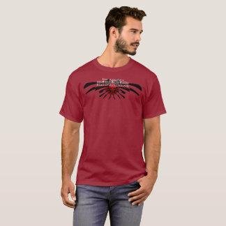 Camiseta Marrom do Web site do filme policial do horror de