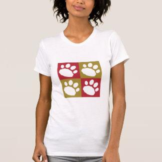 Camiseta Marrom e patas do animal de estimação do tabuleiro
