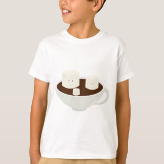 Camiseta Marshmallows no chocolate quente