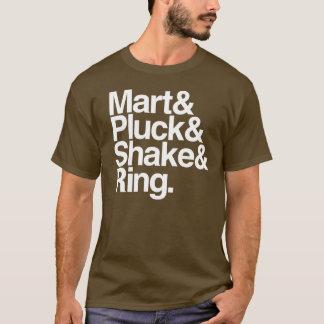 Camiseta Mart&Pluck&Shake&Ring. (obscuridade)
