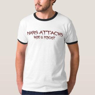 Camiseta Marte ataca o Podcast - campainha branca básica