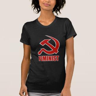 Camiseta Martelo & foice clássicos vermelhos & cinzentos em