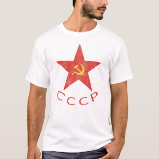 Camiseta Martelo & foice de CCCP no t-shirt vermelho da