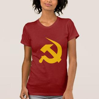 Camiseta Martelo & foice Neo-Grossos do amarelo de cromo