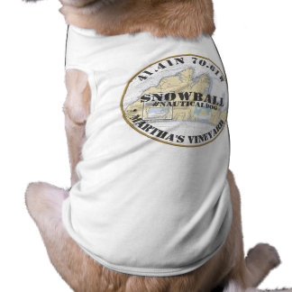 Camiseta Martha's Vineyard náutico Massachusetts do cão