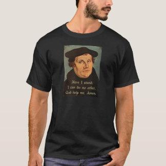 Camiseta Martin Luther aqui eu estou a cotação