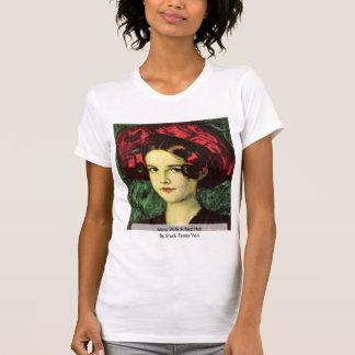 Camiseta Mary com Red Hat por Franz colado Von