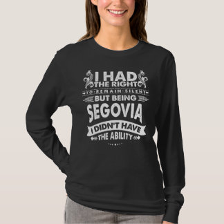 Camiseta Mas sendo SEGOVIA eu não tive a capacidade