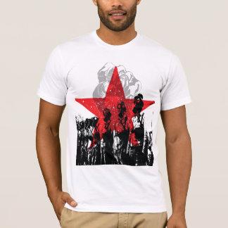 Camiseta Máscara de gás vermelha da estrela! T-shirt de