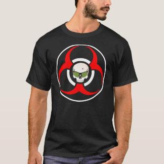 Camiseta Máscaras do verde do BioHazard do zombi