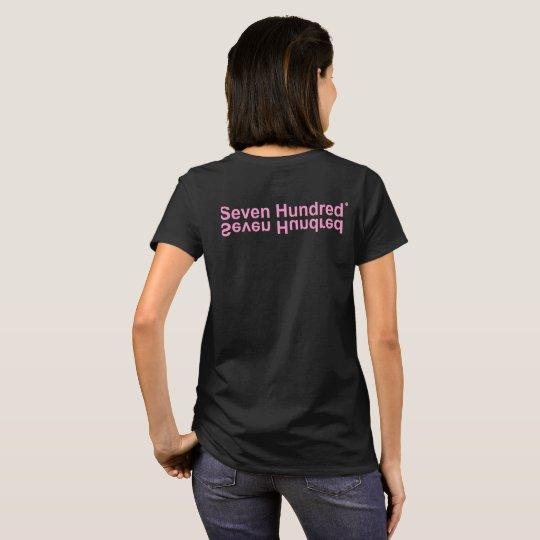 Camiseta Mascote Seven Hundred Rosa Claro