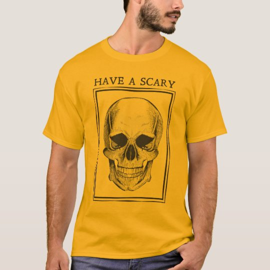 Camiseta Masculina Caveira Have a Scary