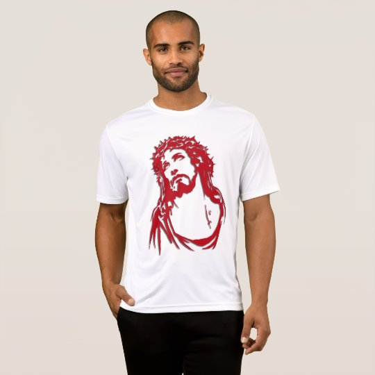 Camiseta masculina com imagem de Cristo