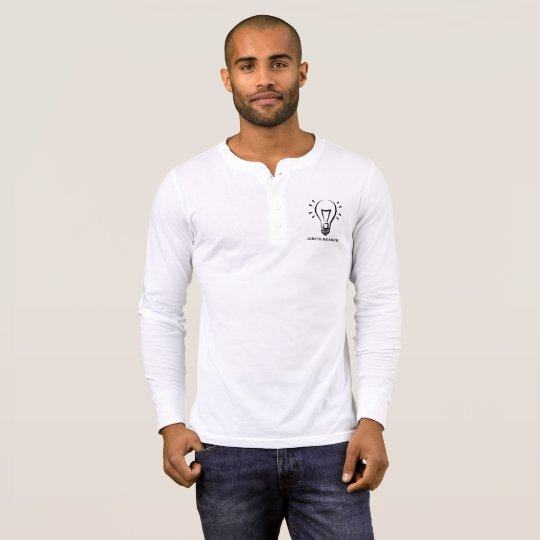 Camiseta masculina Henley Long Arch Search
