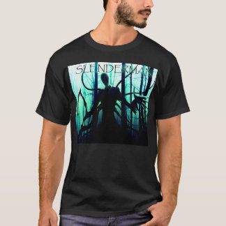 Camiseta Massa assustador do homem delgado de Slenderman
