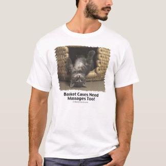 Camiseta Massagem da cesta do gato