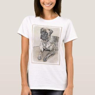 Camiseta Mastiff inglês (rajado)