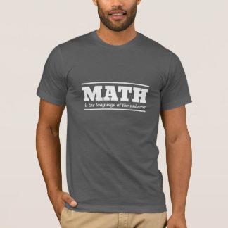 Camiseta Matemática a língua universal