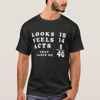 Camiseta Matemática da idade