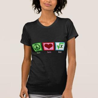 Camiseta Matemática do amor da paz