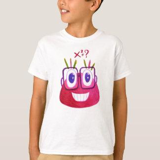 Camiseta Matemático bonito do caráter dos doces do geek da