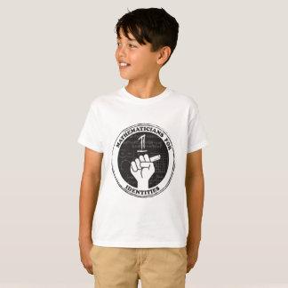 Camiseta Matemáticos para o t-shirt das identidades -