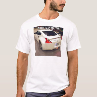 Camiseta Matéria branca dos carros
