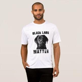 Camiseta Matéria preta dos laboratórios