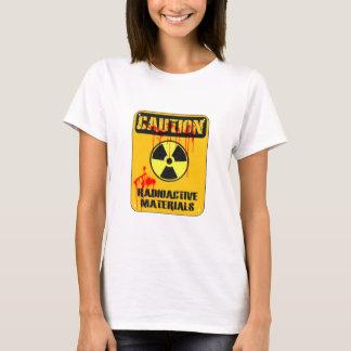 Camiseta Material radioactivo do cuidado