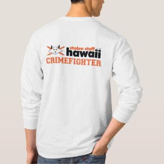Camiseta Material roubado Havaí Crimefighter Sleeved por