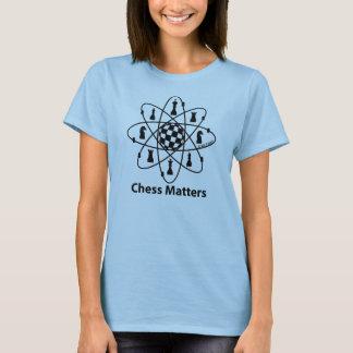 Camiseta Matérias da xadrez, átomo da xadrez, mulheres