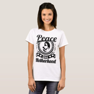 Camiseta Maternidade do amor da paz