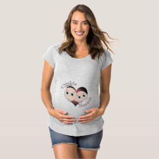 Camiseta Maternidade engraçada - problema do dobro do