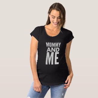 Camiseta Maternidade T das mamães e do bebê