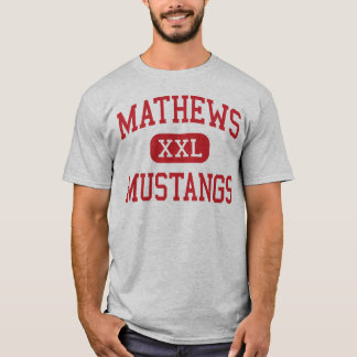 Camiseta Mathews - mustang - segundo grau - Viena Ohio