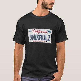Camiseta Matrícula das regras de Unix
