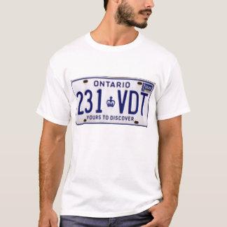 Camiseta matrícula Ontário