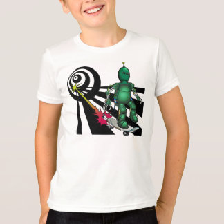 Camiseta Mattzu o t-shirt Skateboarding do robô
