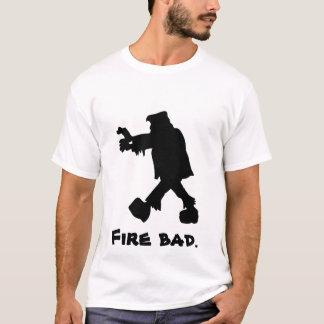 Camiseta Mau do fogo de Frankenstein