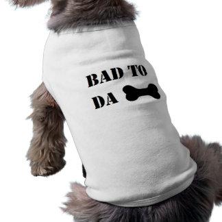 """Camiseta """"mau humor engraçado do cão ao osso da Dinamarca"""""""