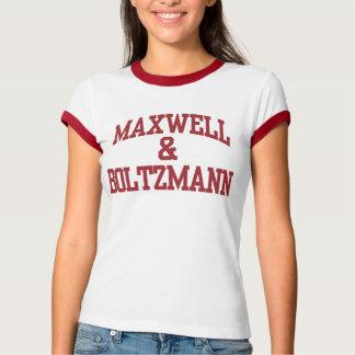 Camiseta Maxwell & t-shirt das mulheres de Boltzmann