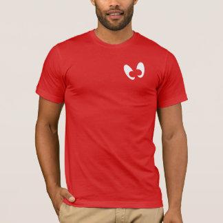Camiseta Mayniax que marca homens vermelhos