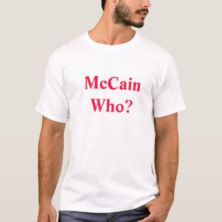 Camiseta McCain quem? Sarah (dianteira) Palin para V.P.