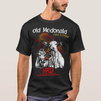 Camiseta McDonald idoso teve uma fazenda. TEVE uma fazenda.
