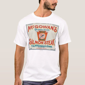 Camiseta McGowan, Washington - etiqueta Salmon trapezóide