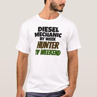 Camiseta Mecânico diesel pelo caçador da semana em o fim de